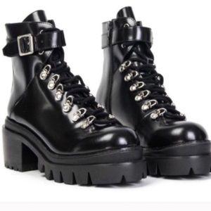 Jeffrey Campbell Czech Moto Black Boots vegan 8